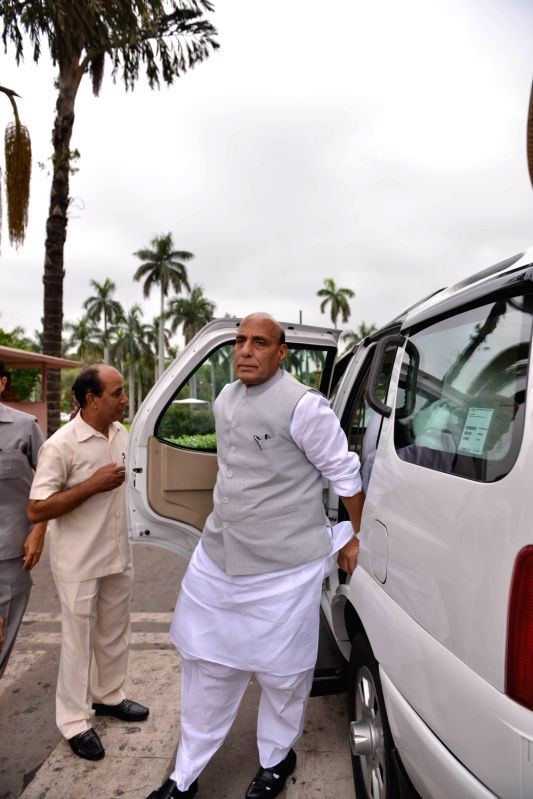 Union Minister and BJP MP Rajnath Singh arrives at Parliament, in New Delhi on July 25, 2018. - Rajnath Singh