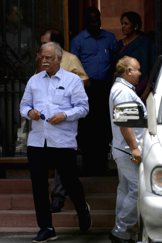 Union Minister Ashok Gajapathi Raju comes out after a cabinet meeting at South Block in New Delhi on June 1, 2016. - Ashok Gajapathi Raju