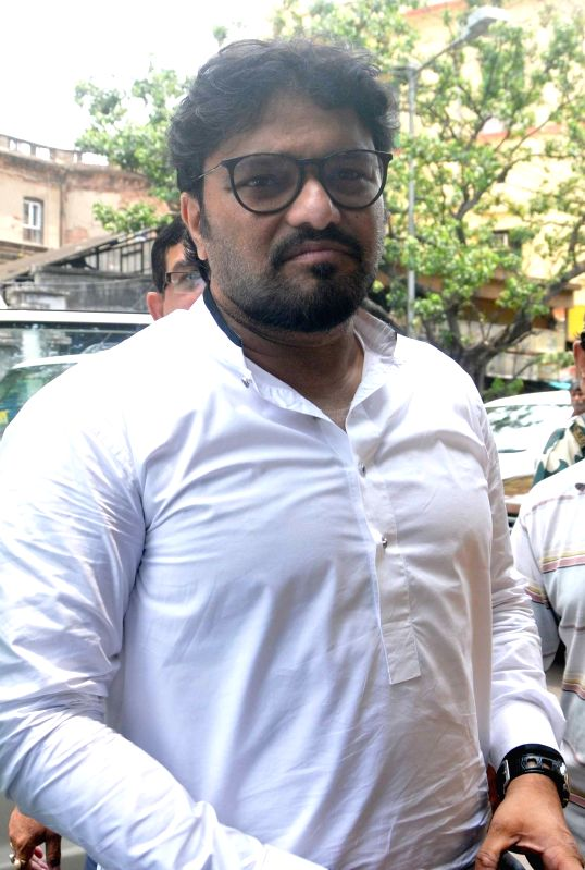 Union Minister Babul Supriyo arrives at a Kolkata court on May 26, 2017. - Babul Supriyo