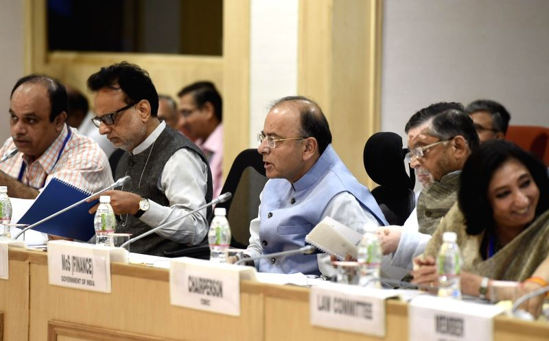 Union Minister Finance Minister Arun Jaitley chairs the 16th Meeting of the GST Council, in New Delhi on June 11, 2017. - Finance Minister Arun Jaitley