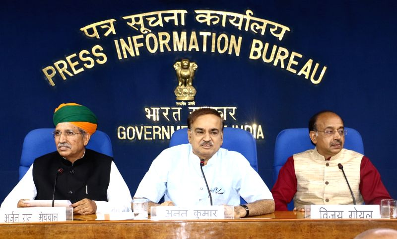 Union Minister for Chemicals and Fertilizers and Parliamentary Affairs Ananth Kumar addresses the media on successful completion of Monsoon Session 2018 of Parliament, in New Delhi on Aug ... - Affairs Ananth Kumar