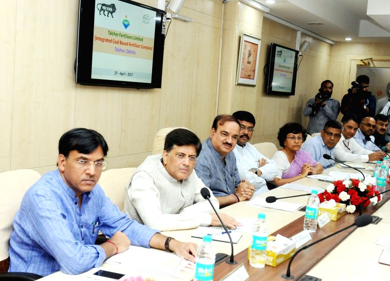 Union Minister for Chemicals & Fertilizers and Parliamentary Affairs Ananth Kumar chairs a joint meeting on revival plans of closed fertilizers plants under the Ministry of Chemicals ... - Affairs Ananth Kumar