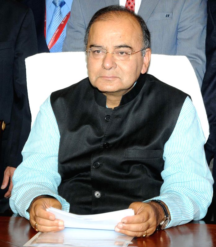Union Minister for Finance, Corporate Affairs and Defence Arun Jaitley gives final touches to General Budget 2014-15 at Finance Minister's chamber in New Delhi on July 9, 2014. - Arun Jaitley