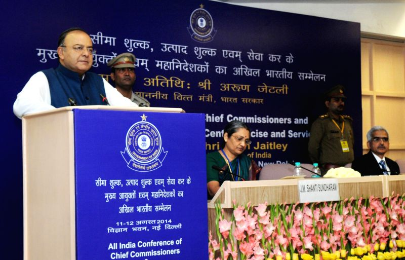 Union Minister for Finance, Corporate Affairs and Defence Arun Jaitley addresses at the Annual Conference of Chief Commissioners and Director Generals of Customs, Central Excise and Service Tax in ... - Arun Jaitley