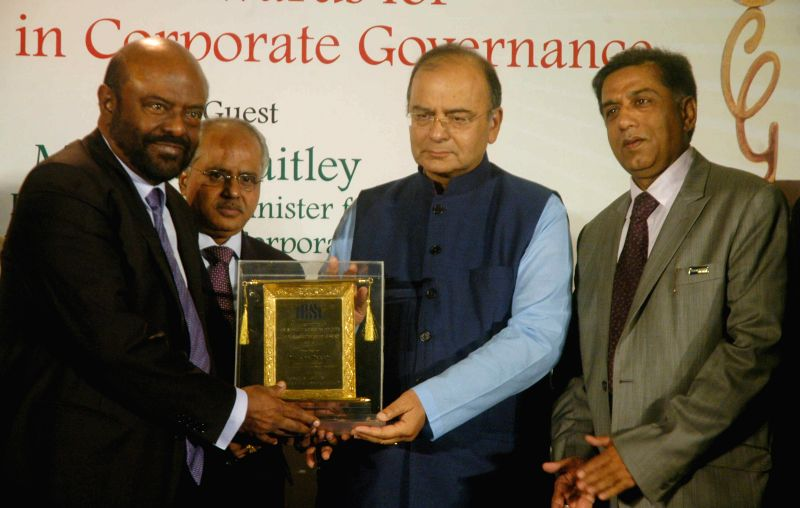 Union Minister for Finance, Corporate Affairs and Defence Arun Jaitley during 13th ICSI National awards for Excellence and Corporate Governance in Kolkata on Aug 24, 2014. - Arun Jaitley