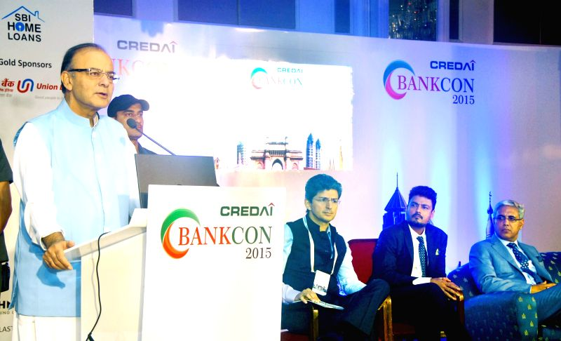 Union Minister for Finance, Corporate Affairs and Information and Broadcasting Arun Jaitley delivers the key note address at `CREDAI BANKCON - 2015` on `Role of Banking and Finance to Achieve ...