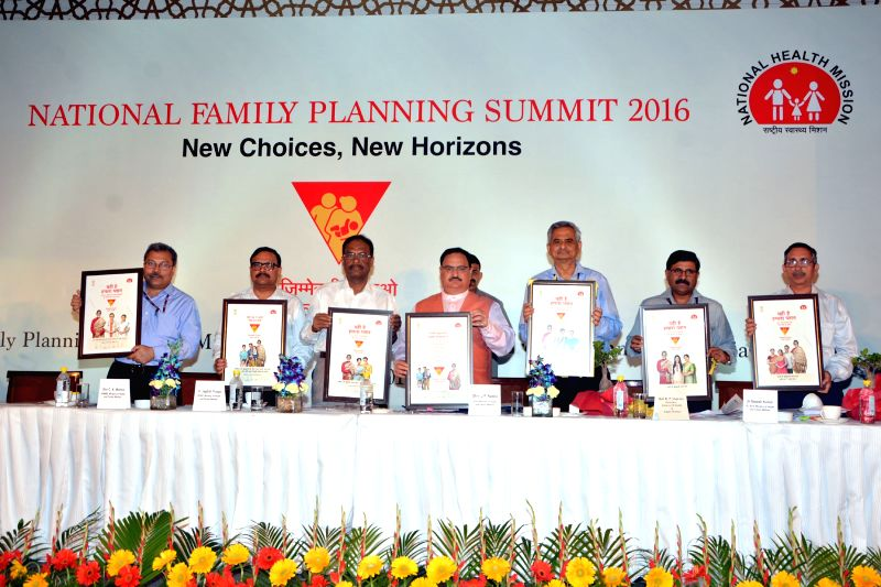 Union Minister for Health and Family Welfare J P Nadda during the launch of New Communication Strategy at the National Summit on Family Planning, in New Delhi on April 5, 2016. Also seen ... - B P Sharma