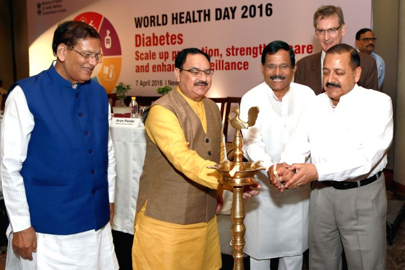 Union Minister for Health and Family Welfare JP Nadda, Union MoS for Development of North Eastern Region (I/C), Prime Minister's Office, Personnel, Public Grievances and Pensions, ... - Jitendra Singh