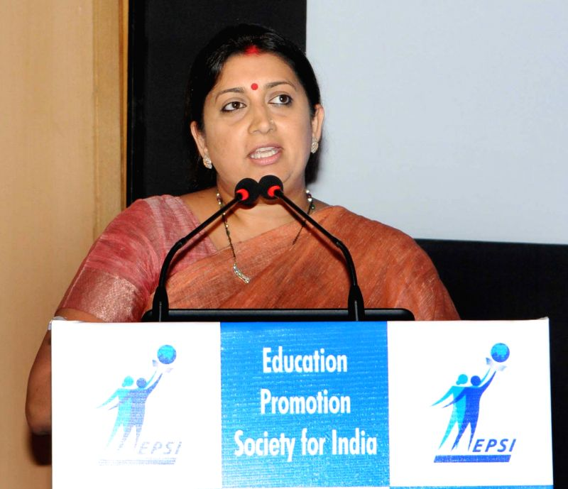 Union Minister for Human Resource Development Smriti Irani addresses at the National Conference on Reforming & Rejuvenating Indian Higher Education A Stakeholders Perspective, in New ...