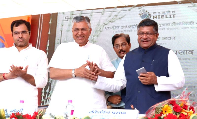 Union Minister for Information Technology Ravi Shankar Prasad inaugurates National Institute of Electronics and Information Technology (NIELIT) building in New Delhi on May 6, 2017.