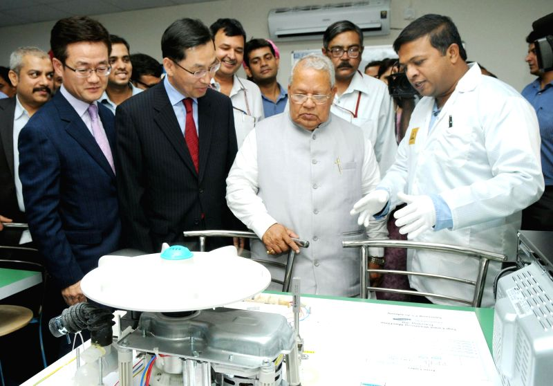 Union Minister for Micro, Small and Medium Enterprises Kalraj Mishra during his visit to MSME-Samsung Technical School after inaugurating it in New Delhi on August 04, 2014. - Enterprises Kalraj Mishra