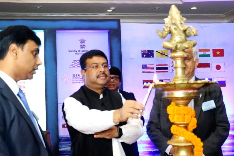 Union Minister for Petroleum and Natural Gas and Skill Development and Entrepreneurship Dharmendra Pradhan during the inauguration of the 3rd East Asia Summit Conference on Maritime ...