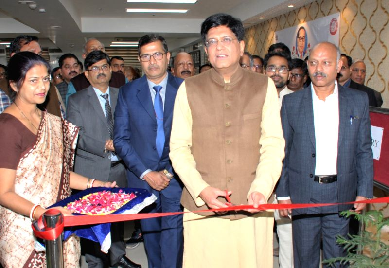 Union Minister for Railways and Coal Piyush Goyal inaugurates photo exhibition, at the ceremony to pay homage to Bodhisatva Babasaheb Dr. B.R. Ambedkar on his 63rd Mahaparinirvan Diwas, at ...