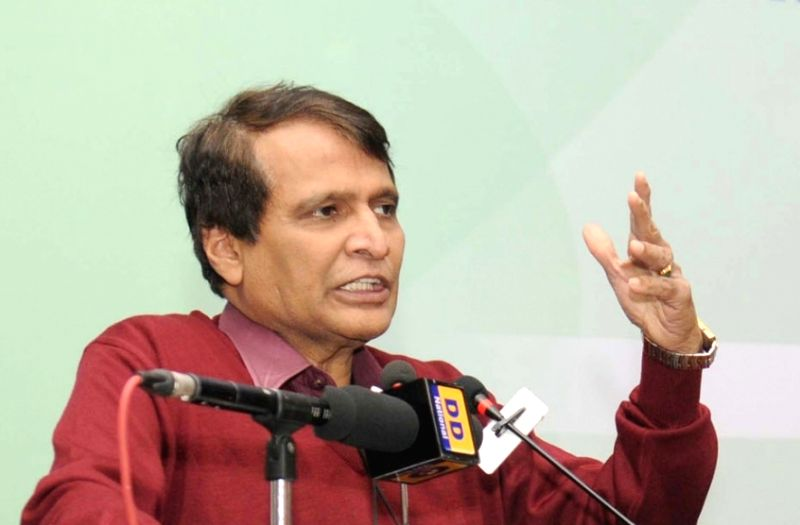 Union Minister for Railways Suresh Prabhakar Prabhu. (File Photo: IANS)