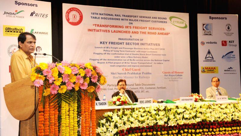 Suresh Prabhu unveils freight action plan, envisages better revenue