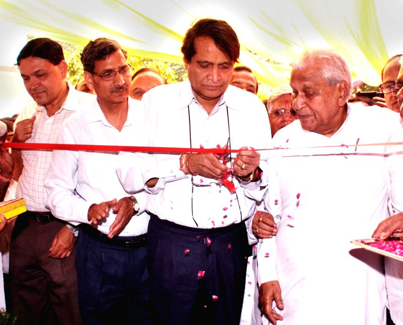 "Union Minister for Railways Suresh Prabhu inaugurates the newly built ""Late Com. Umraomal Purohit Memorial Research Centre"", in New Delhi on May 10, 2016. - Suresh Prabhu"