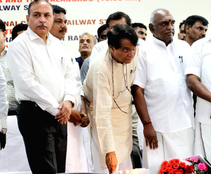 Union Minister for Railways Suresh Prabhu at the inauguration/launch of the following facilities/initiatives namely 1. Inaugurating the Ayush – Traditional Indigenous Medical facilities at ... - Suresh Prabhu