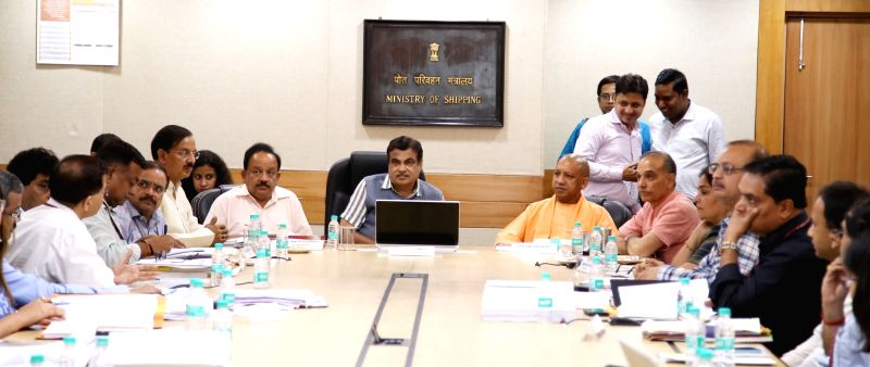 Union Minister for Road Transport & Highways, Shipping and Water Resources, River Development & Ganga Rejuvenation Nitin Gadkari, the Union Minister for Science & Technology, ... - Yogi Adityanath and Satya Pal Singh