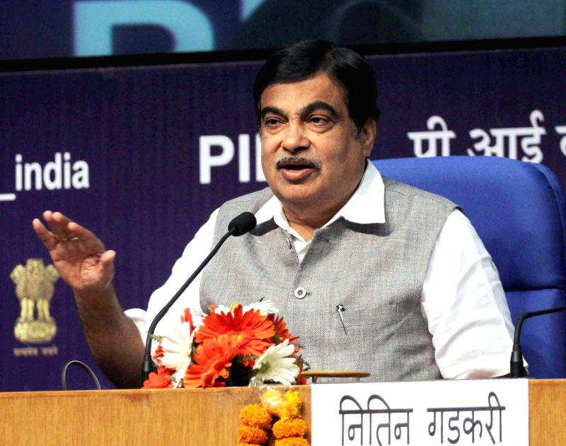 Union Minister for Road Transport & Highways and Shipping Nitin Gadkari. (Image Source: IANS)