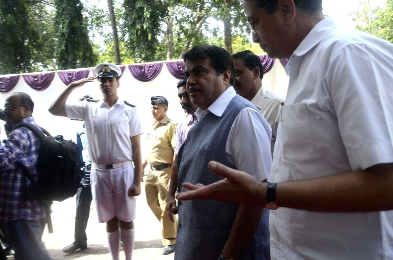 Union Minister for Shipping, and Road Transport and Highways Nitin Gadkari during a programme organised on Day of the Seafarer 2014 at Swatantryaveer Savarkar Auditorium in Mumbai on June 25, 2014.