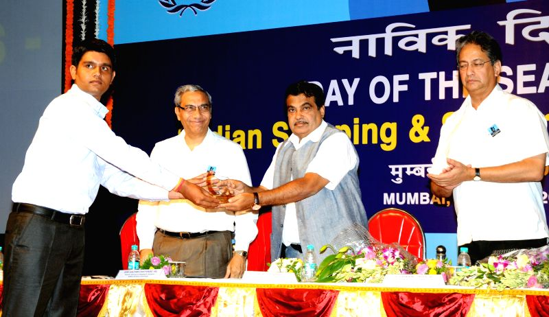 Union Minister for Shipping, and Road Transport and Highways Nitin Gadkari during a programme organised on Day of the Seafarer 2014 in Mumbai on June 25, 2014.