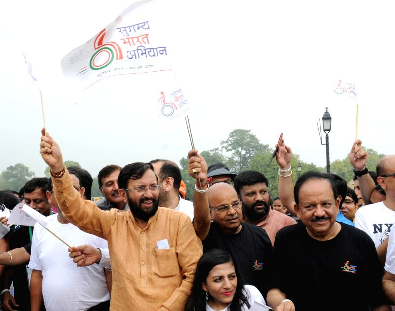 Union Minister for Social Justice and Empowerment Thaawar Chand Gehlot, the Union Minister for Human Resource Development, Prakash Javadekar and the Union Minister for Science & ...
