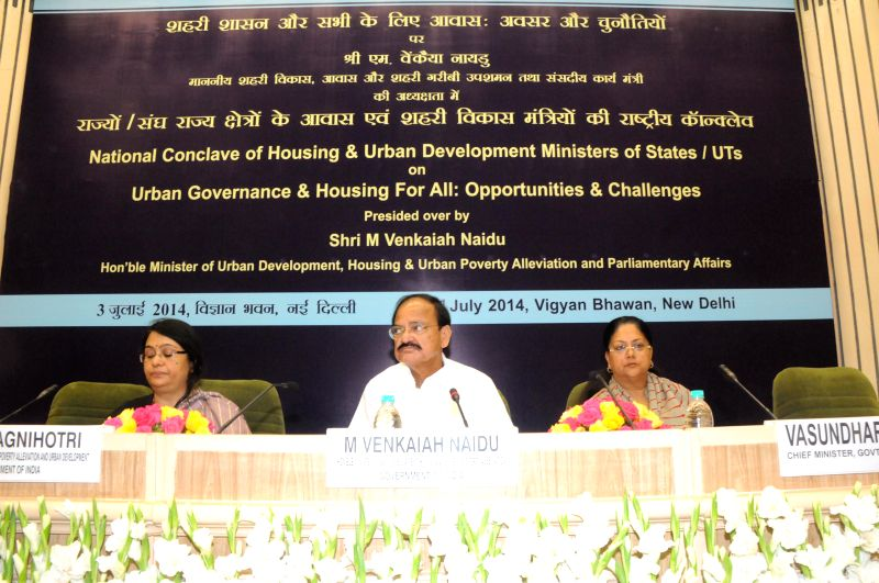 Union Minister for Urban Development, Housing and Urban Poverty Alleviation and Parliamentary Affairs, M. Venkaiah Naidu at the Conclave of Ministers of Urban Development & Housing of Central and - M. Venkaiah Naidu