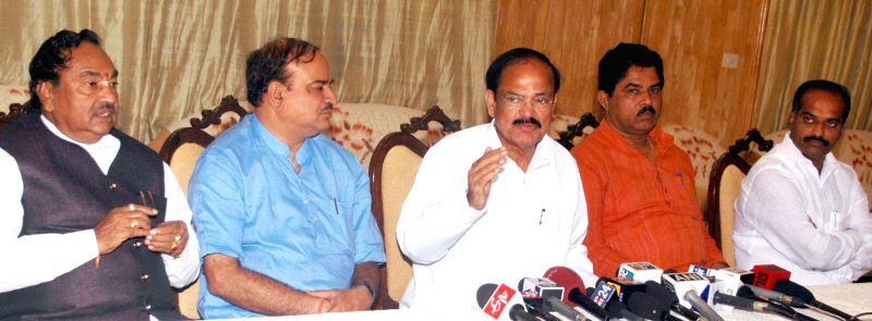 Union Minister for Urban Development, Housing and Urban Poverty Alleviation and Parliamentary Affairs M. Venkaiah Naidu, Union Chemicals and Fertilizer Minister Ananth Kumar, BJP MP from Bangalore ... - M. Venkaiah Naidu