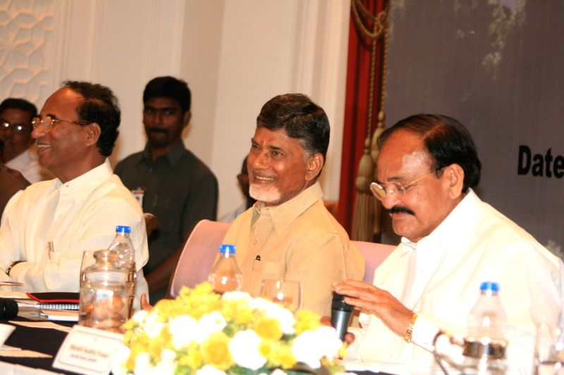 Union Minister for Urban Development, Housing and Urban Poverty Alleviation and Parliamentary Affairs M. Venkaiah Naidu with Andhra Pradesh Chief Minister N. Chandrababu Naidu during orientation ... - N. Chandrababu Naidu and M. Venkaiah Naidu
