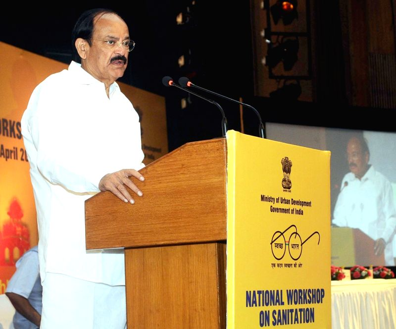 Union Minister for Urban Development, Housing and Urban Poverty Alleviation and Parliamentary Affairs M. Venkaiah Naidu addresses at the inauguration of the National Workshop on ... - M. Venkaiah Naidu