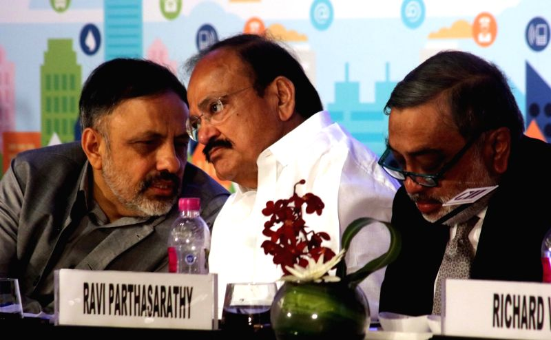 "Union Minister for Urban Development, Housing and Urban Poverty Alleviation and Parliamentary Affairs M Venkaiah Naidu during ""Smart City Investors Meet"" organised by CII in New ... - Venkaiah Naidu"