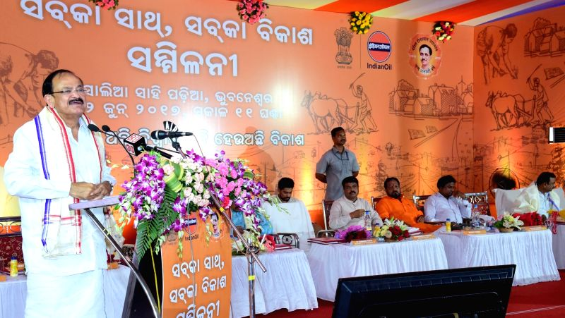 "Union Minister for Urban Development, Housing and Urban Poverty Alleviation and Information and Broadcasting M Venkaiah Naidu addresses at the ""Sabka Saath Sabka Vikas' Sammelan in ... - M Venkaiah Naidu"