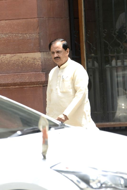 Union Minister Mahesh Sharma comes out after a cabinet meeting at South Block in New Delhi on June 1, 2016. - Mahesh Sharma