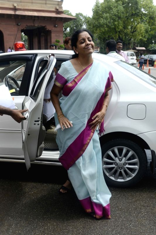 Union Minister of State for Commerce and Industry (Independent Charge), Nirmala Sitharaman at Parliament in New Delhi, on July 18, 2016.