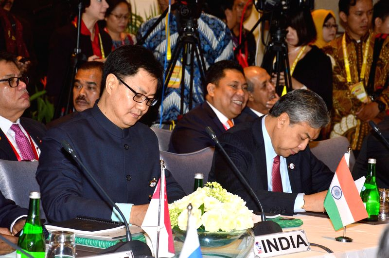 Union Minister of State for Home Affairs Kiren Rijiju during the International Meeting on Counter - Terrorism, in Bali, Indonesia on Aug 10, 2016.