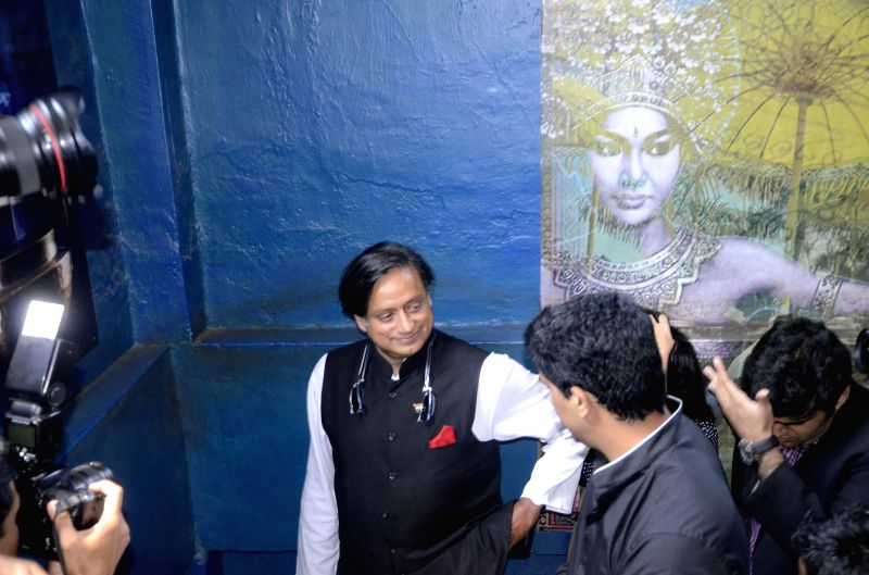 Union Minister of State for Human Resource Development, Shashi Tharoor during an interview in Mumbai on April 16, 2014.