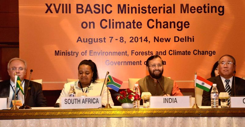 Union Minister of State for Information and Broadcasting (Independent Charge), Environment, Forest and Climate Change (Independent Charge) and Parliamentary Affairs, Prakash Javadekar during a press .