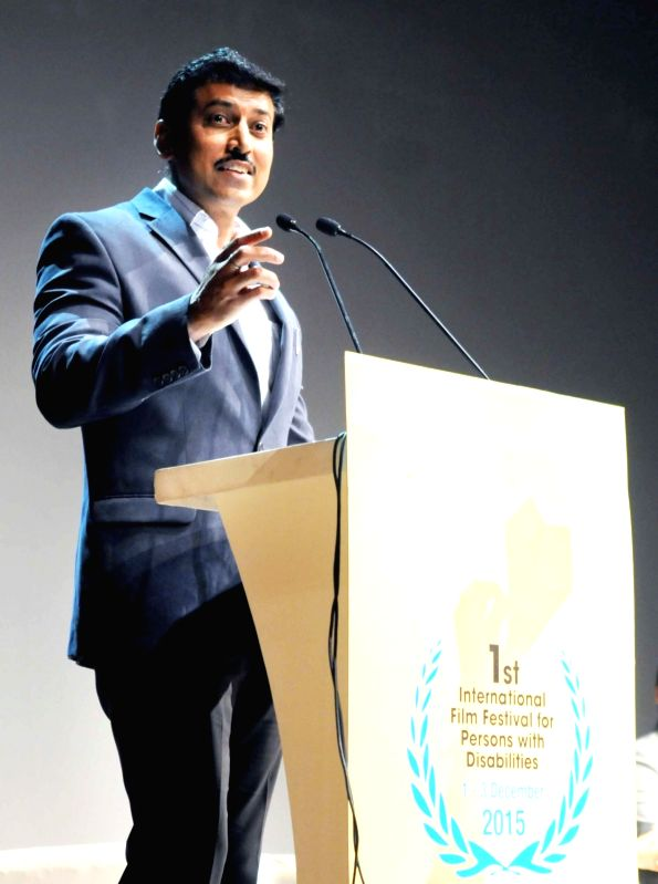 Union Minister of State for Information and Broadcasting, Col. Rajyavardhan Singh Rathore addresses at the closing ceremony of the 1st International Film Festival for Persons with ... - Rajyavardhan Singh Rathore