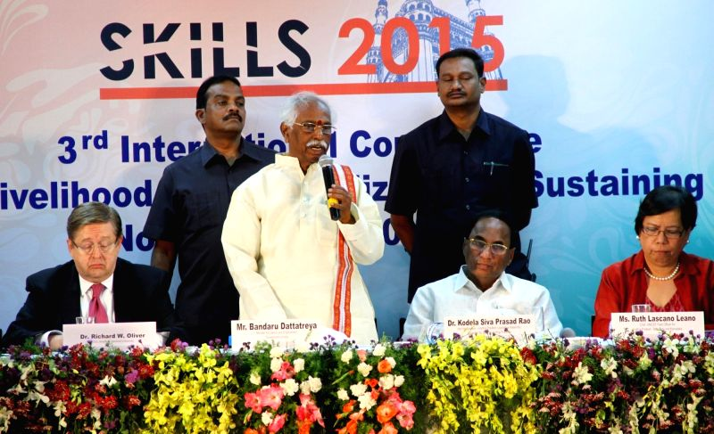 Union Minister of State for Labour and Employment Bandaru Dattatreya during the inauguration of 3rd International Conference on Life and Livelihood Skills Realizing and Sustaining Clean ...