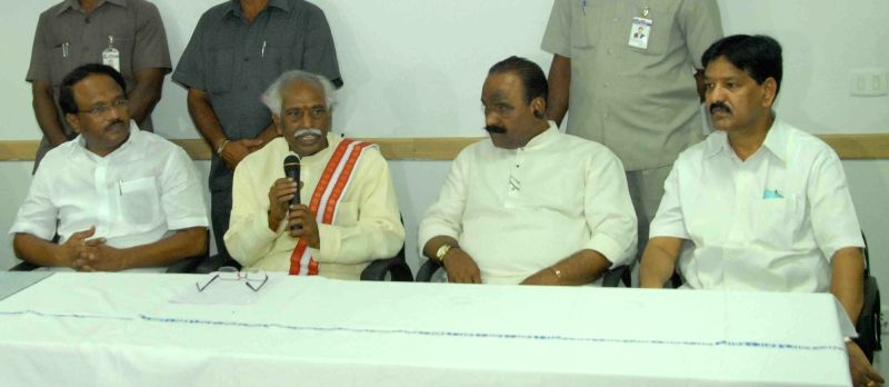 Union Minister of State for Labour and Employment (Independent Charge), Bandaru Dattatreya addresses during the inauguration of ESIC Medical collage and Hospital in Hyderabad, on May 21, ... - N Narasimha Reddy and Laxma Reddy