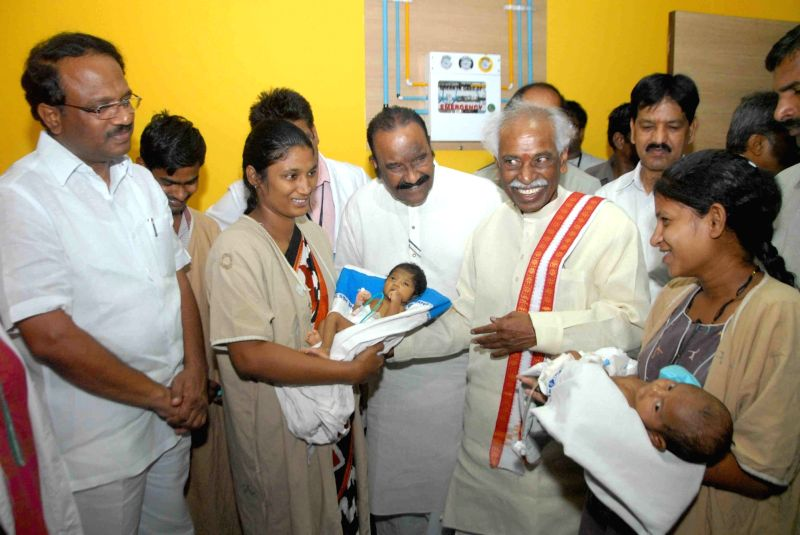 Union Minister of State for Labour and Employment (Independent Charge), Bandaru Dattatreya during the inauguration of ESIC Medical collage and Hospital in Hyderabad, on May 21, 2016. Also ... - N Narasimha Reddy and Laxma Reddy