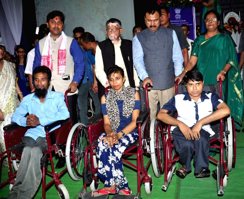 Union Minister of State for Labour and Employment Santosh Kumar Gangwar at the inauguration of the office building of National Career Service Centre for Differently Abled, in Guwahati on ... - Santosh Kumar Gangwar