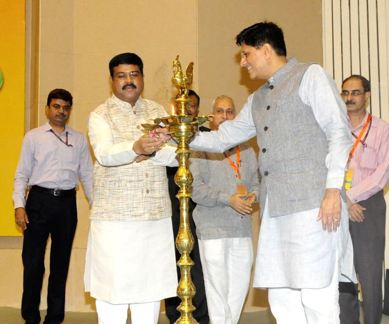 Union Minister of State for Petroleum and Natural Gas (Independent Charge) Dharmendra Pradhan and Union Minister of State for Power, Coal, New and Renewable Energy and Mines (Independent ...