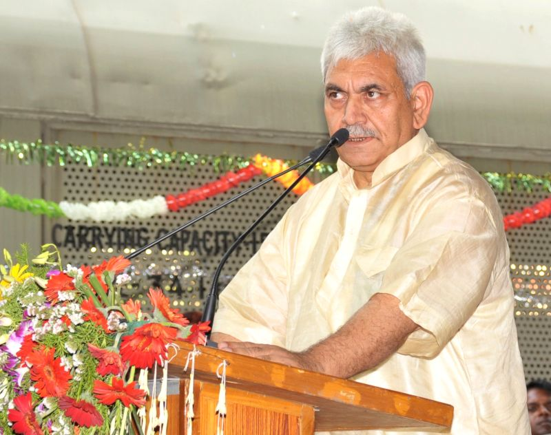 Union Minister of State for Railways Manoj Sinha addresses at the flagging-off ceremony of the 1st Dual Cab Freight Diesel Locomotive with Vacuum Toilet and Safety Interlocks, in New Delhi ... - Manoj Sinha