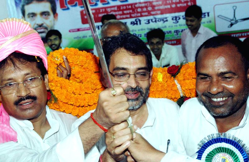 Union Minister of State for Rural Development, Panchayati Raj, Drinking Water and Sanitation Upendra Kushwaha during a programme organised in Patna on July 27, 2014.