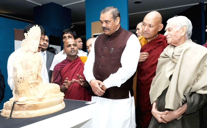 Union Minister of State for Social Justice and Empowerment Vijay Sampla at the ``International Conference on Bodhi Dharma and Zen Buddhism``, in New Delhi on Nov 20, 2015.