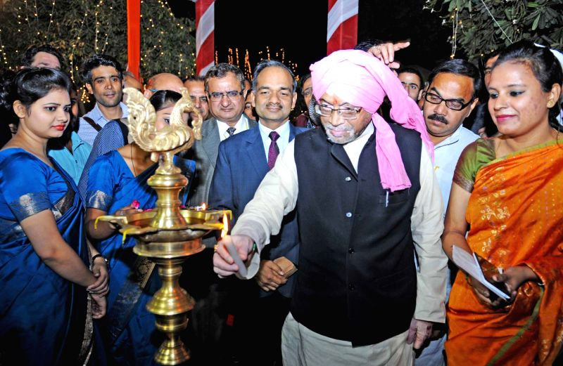 "Union Minister of State for Textiles (Independent Charge) Santosh Kumar Gangwar inaugurates the National Handicrafts Fair ""Master Creation"", in New Delhi on Dec 2, 2015. - Santosh Kumar Gangwar"