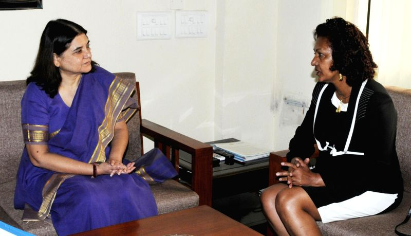 Union Minister of Women, Children and Youth Affairs, Federal Democratic Republic of Ethiopia, Zenebu Tadesse Woldetsadik calls on Union Minister for Women and Child Development Maneka ... - Development Maneka Gandhi