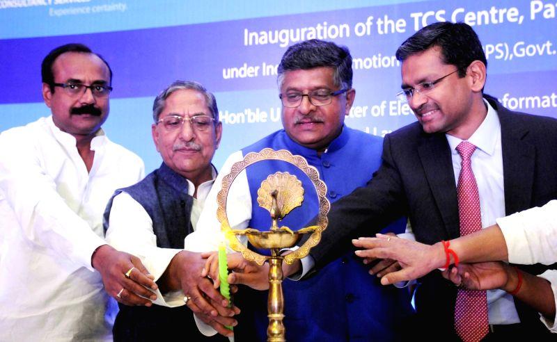 Union Minister Ravi Shankar Prasad during inauguration of TCS in Patna on May 11, 2017. - Ravi Shankar Prasad
