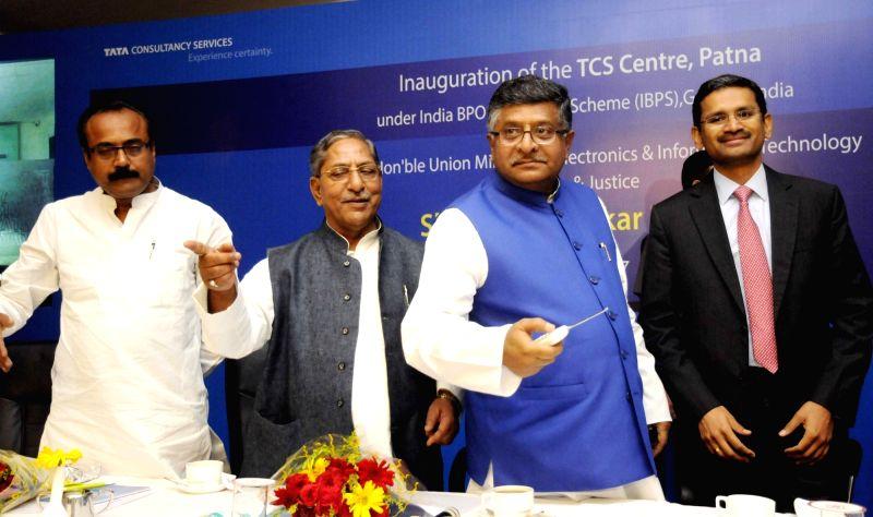 Union Minister Ravi Shankar Prasad during inauguration of a TCS centre in Patna on May 11, 2017. - Ravi Shankar Prasad